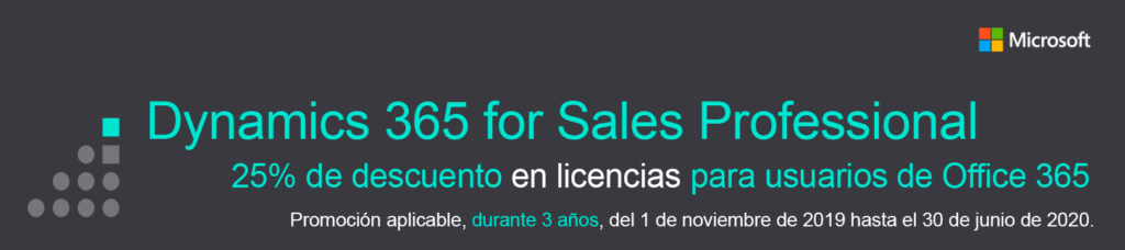 Dynamics 365 for Sales Professional para usuarios de Office 365